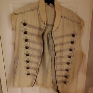 Beautiful Trendy Free People Jean Vest